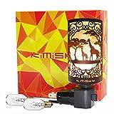 Himalayan Giraffe Salt Lamp Night Light, Vintage Salt Lamp - Himalayan Wall Lamp Hand Engraved Crystal Salt Rock Wall Lamp Bedroom Night Light Bulb, 2 Bulbs SP-127C