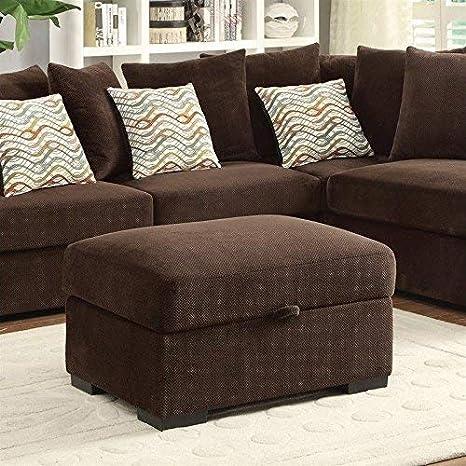 Amazon.com: Coaster 500146 Home Muebles Otomano, Chocolate ...