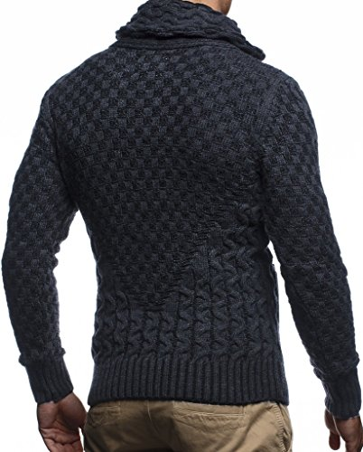 Leif Nelson Men's Knitted Jacket Turtleneck Cardigan Winter Pullover Hoodies Casual Sweaters Jumper LN5340