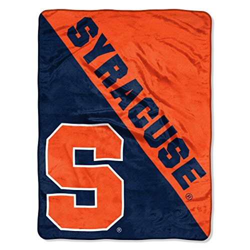 Syracuse Orangemen Fleece - The Northwest Company Officially Licensed NCAA Syracuse Orange Halftone Micro Raschel Throw Blanket, 46