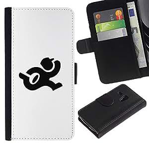Paccase / Billetera de Cuero Caso del tirón Titular de la tarjeta Carcasa Funda para - Postman run - Samsung Galaxy S3 MINI NOT REGULAR! I8190 I8190N