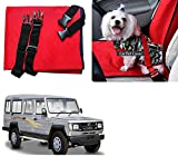 Auto Pearl - Premium Make Red Black Car Pet Single Seat Cover For - Toyota Land Cruiser