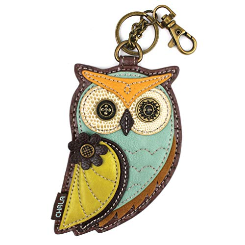 (Chala Coin Purse/KeyFob-Owl-A )
