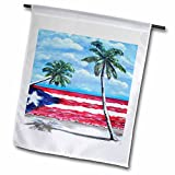 Melissa A. Torres Puerto Rican Art – Palm trees and Puerto Rican Flag – 18 x 27 inch Garden Flag (fl_186262_2) Review
