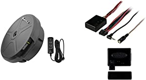 """Rockville RockGhost Hidden Powered 8"""" Car Subwoofer Spare Tire Sub-No Lost Space & Metra Axxess ASWC-1 Universal Steering Wheel Control Interface"""