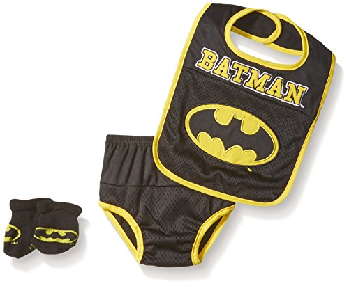 DC Comics Baby Bib Bootie Set and Diaper Cover