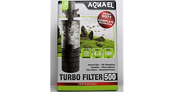 Aquael FILTRO interior TURBO filtro 500: Amazon.es: Productos para mascotas