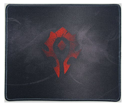 Wow 12x10 Inch World of Warcraft Horde Flag Badge Large Mouse Pad Mouse matWaterproof Nonskid