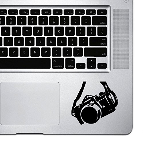 StickAny Palm Series DSLR Hanging Camera Sticker for Macbook Pro, Chromebook, and Laptops (Black)