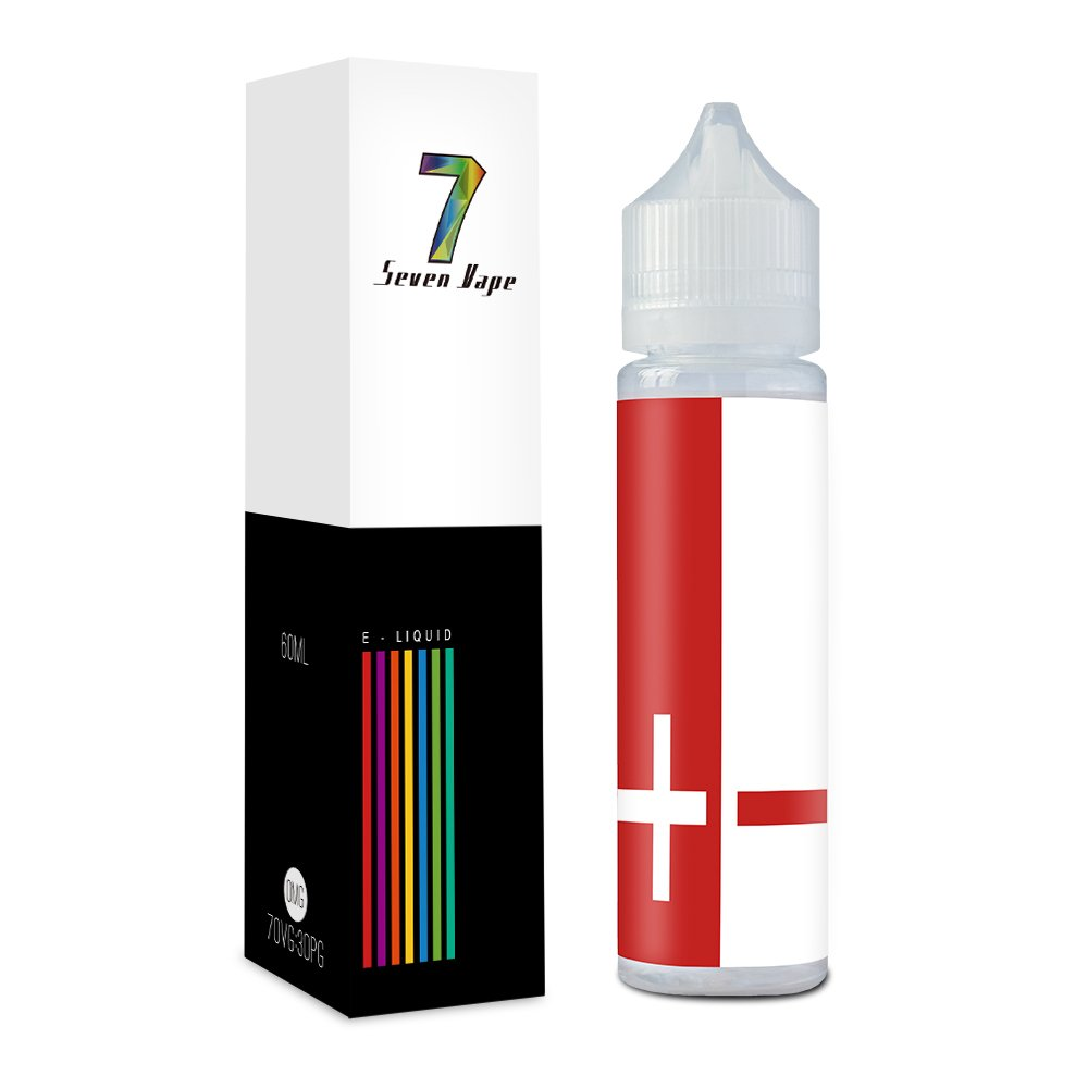 Seven Vape Elíquido, 60ml 70VG/30PG E-Liquid Pulpa de Lichi Liquido Vaper para Cigarrillos Electrónicos Sin Nicotina (60ml)