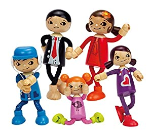 Amazon Hape Modern Family 5 Bendable Wooden Doll Set