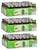 Ball Wide Mouth Pint 16 Oz. Glass Mason Jars with Lids and Bands, 12 Count (3 Pack)