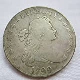 1799 Draped Bust Brass Silver Plated Dollar Copy Coin