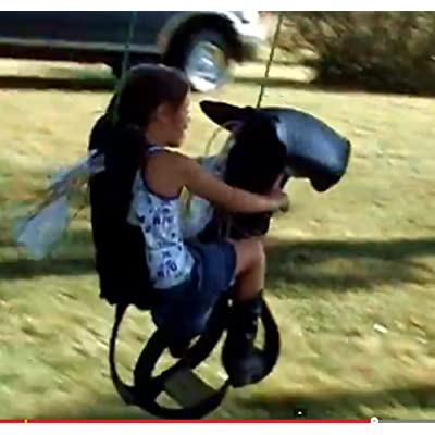 Classic Pony Horse Swing Made From Real Soft ATV or Turf Tires Has Stirrups and Handles Grip for Safe Riding Hand-crafted in USA: Office Products