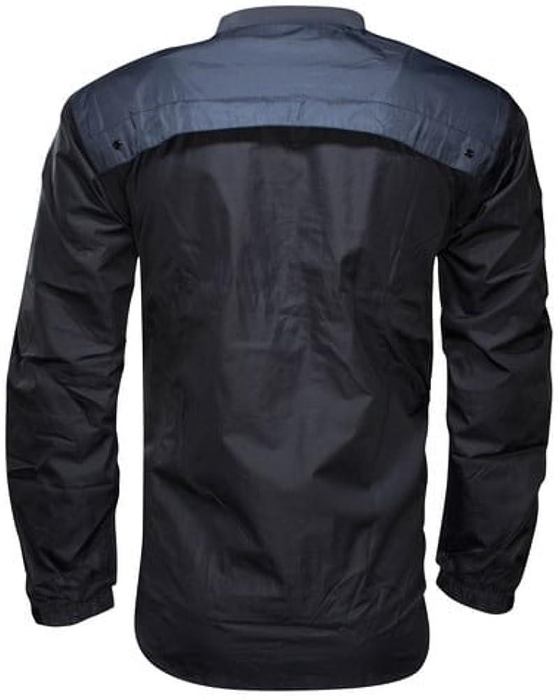 blk Saracens Wet Weather Pullover Top