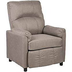 Best Massage Single Arm Recliner Chair Sofa Fabric Reclining Couch Accent Chair