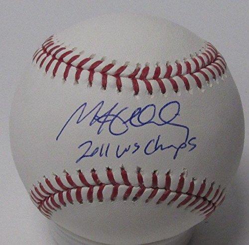 Cardinals Matt Holliday Autographed Mlb Baseball Auto with 2011 Ws Champs JSA (Matt Holliday Autographed Baseball)
