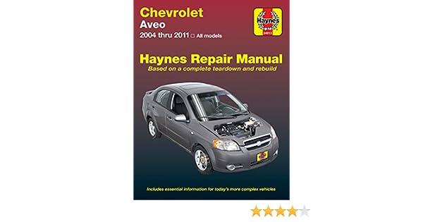 amazon com haynes manuals haynes repair manual for chevrolet aveo rh amazon com