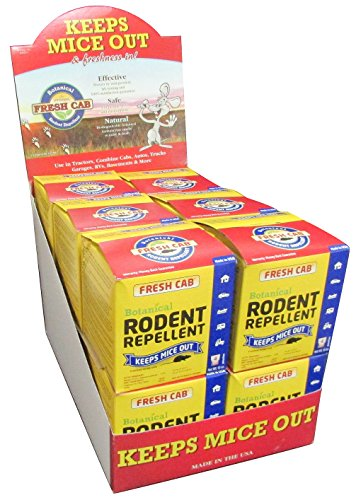 48 Pouches of Plant Based- Fresh Cab Botanical Rodent Repellent for Homes Cars Tractors Barns Boats and More