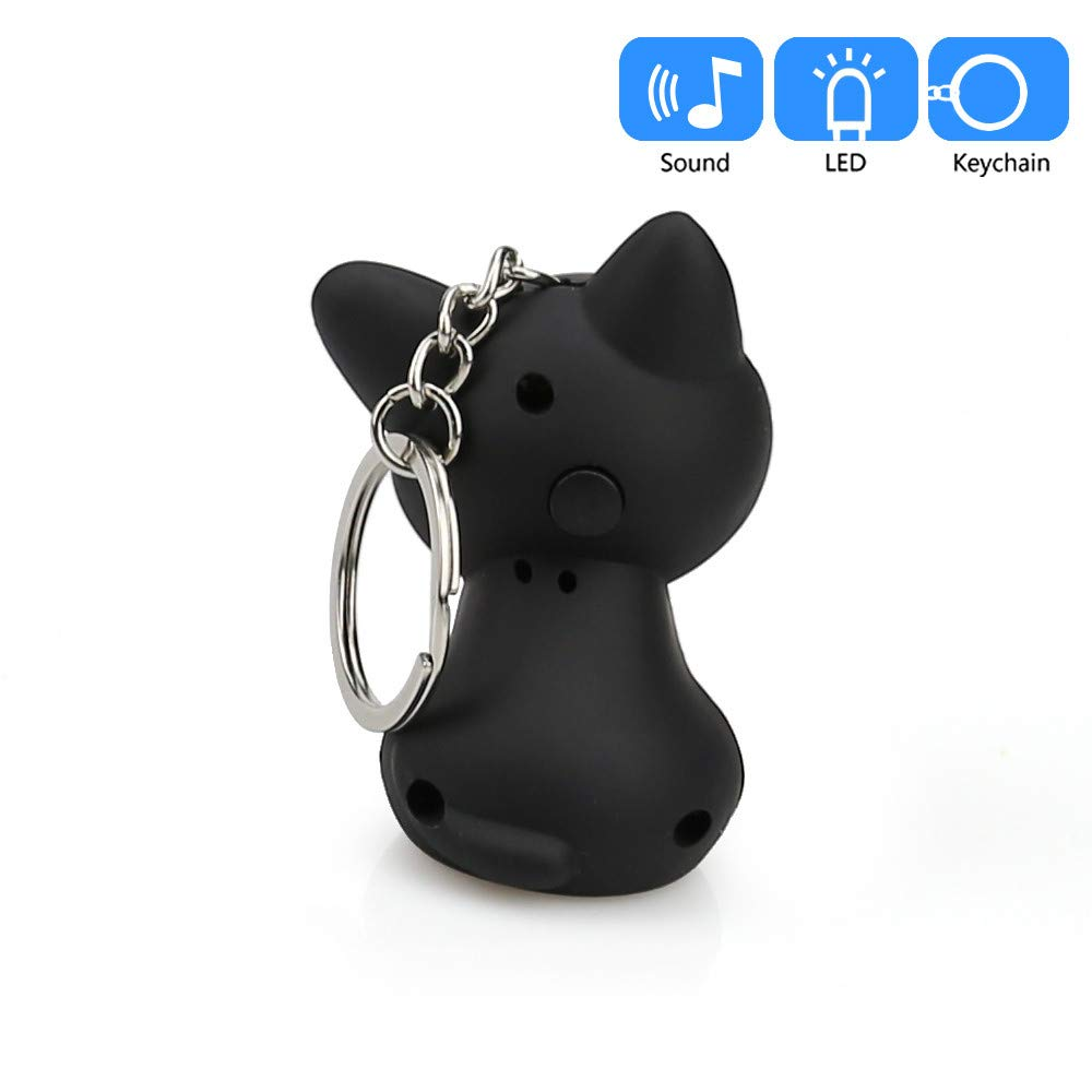 Aobiny Keychain, Cute Cat Keychain with LED Light and Sound Keyfob Kids Toy Gift (Black) by Aobiny (Image #7)