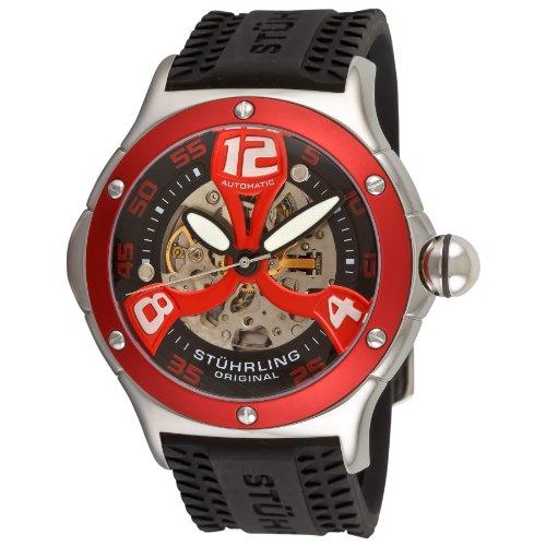 Stuhrling Original Men's 4ATXL.332TT640 Champion Alpine Extreme Automatic Skeleton Black Rubber Strap Watch by Stuhrling Original