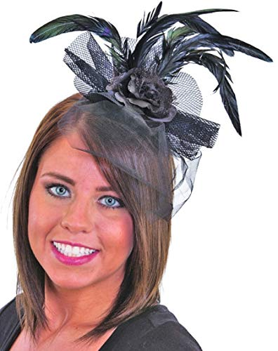 Saloon Girl Costumes Accessories - Jacobson Hat Company J24612 (Black) Feather