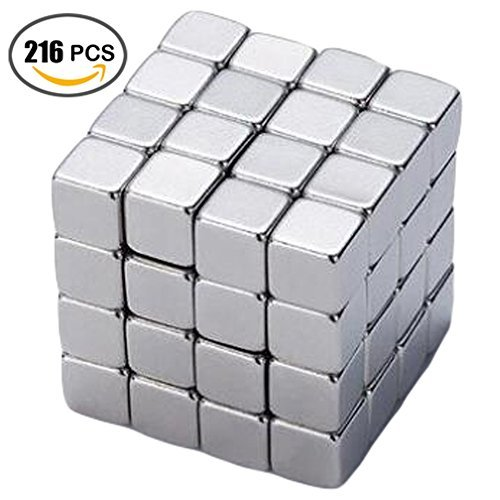 Magnetic Cube 5MM 216 Cubes Set Puzzle Multi-Use Square Office Desk Stress Relief Toy Magnet Block Magic Cube Education Toys for Adults and (Square Pattern Puzzle)