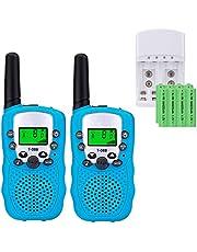Talkies Walkies PMR 446 pour Enfants et Adultes avec Batteries rechargeable et Chargeur Talkie Walkie Enfants Talkie-Walkies Talki Walki Talky Walky Flashlight VOX 8 Canaux 0.5W