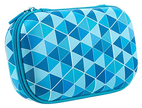 ZIPIT Colorz Pencil Case/Pencil Box/Storage Box/Cosmetic Makeup Bag, Blue