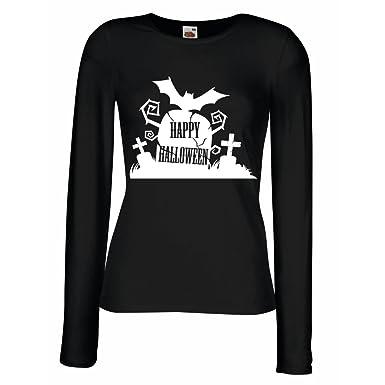Weibliche Langen Armeln T Shirt Halloween Friedhof Kostum Ideen