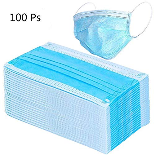 Dacorda 100pcs Surgical Disposable Three Layer Face Dust Ear Loop, Medical Mouth Flu Mask, for Blocking Dust Air Pollution Flu Protection, 3 Ply Breathable and Comfortable, for Daily Cold Protectio