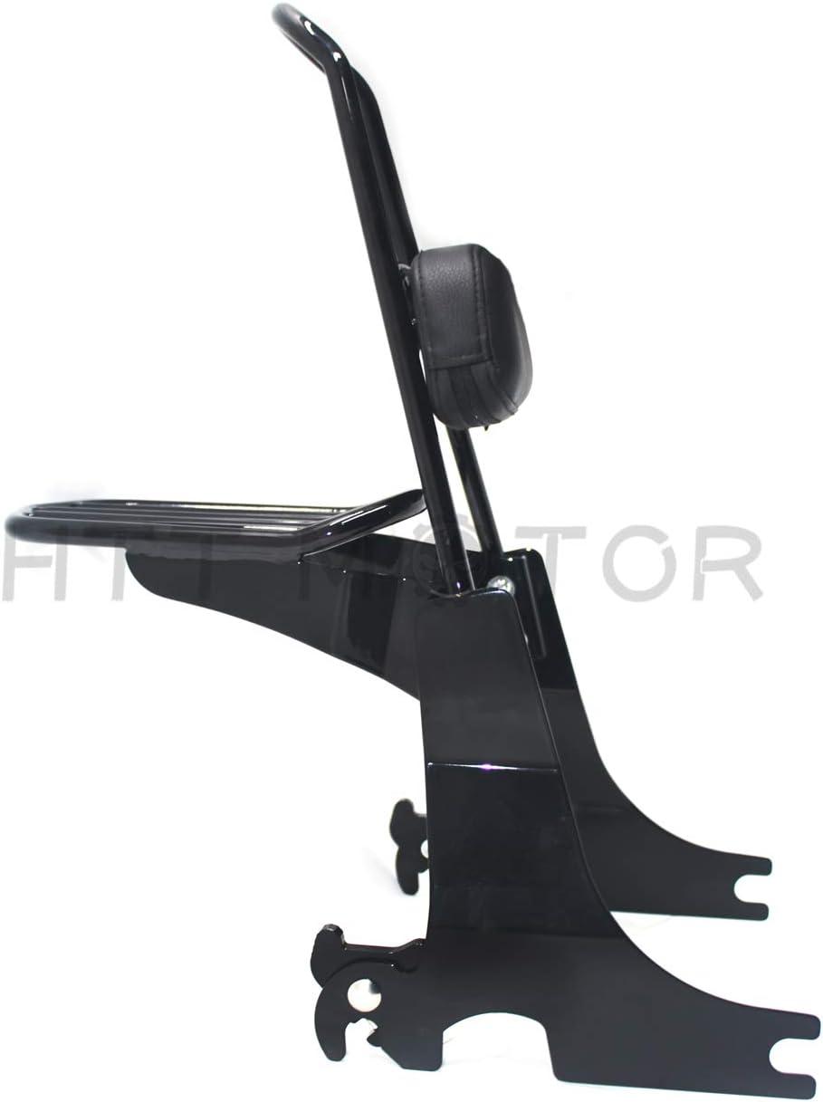 P//N: SBB020 HTTMT Sissybar Luggage Rack For 1994-2003 Harley Sportster Passenger Backrest Black