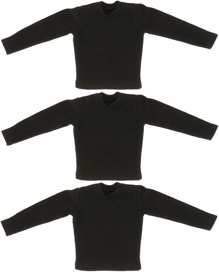non-brand Camisa Negra de Ropa para Muñeca ... - Amazon.es