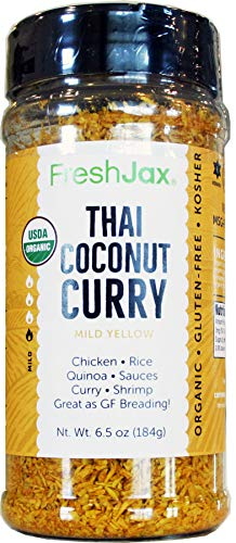 FreshJax Gourmet Thai Coconut Curry Yellow Mild Large 6.5 oz