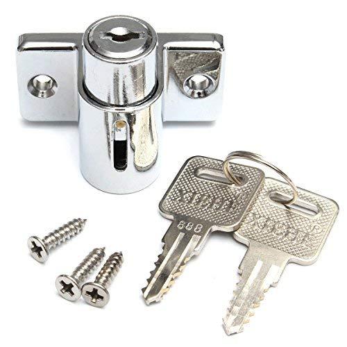 Hanperal Aluminum Sliding Patio Door Window Bolt Locking Catch Push Lock Security Child