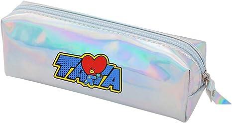 Youyouchard Kpop BTS Bangtan - Estuche holográfico con cremallera para lápices y cosméticos: Amazon.es: Juguetes y juegos