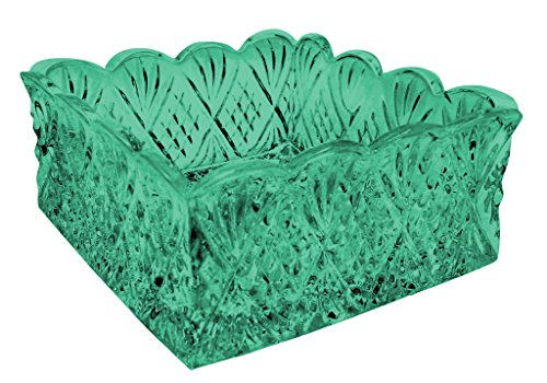 Godinger Dublin Napkin Holder well-loved patterns Lead Crystal - Color Aqua Additional Vibrant Colors Available by TableTop King