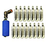 Co2 pump 2in1 Presta & Schrader PUSH'n GO Valve Compatible with 15 x CO2 Cartridges Included
