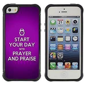 Suave TPU GEL Carcasa Funda Silicona Blando Estuche Caso de protección (para) Apple Iphone 5 / 5S / CECELL Phone case / / BIBLE Start Your Day With A Prayer /