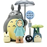 6 Pcs Totoro Figurine Set, Miniature Home Fairy Garden Micro Totoro Bus Station Landscape Ornament Decorations – Figures…