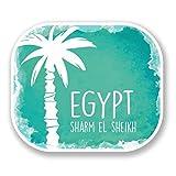 2 x 10cm/100mm Sharm El Sheikh Egypt Vinyl SELF ADHESIVE STICKER Decal Laptop Travel Luggage Car iPad Sign Fun #6506