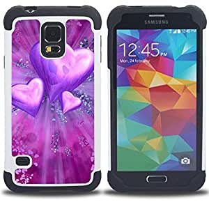 King Case - Love Purple Heart - Cubierta de la caja protectora completa h???¡¯???€????€?????brido Body Armor Protecci???¡¯