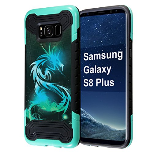 Dragon Phone (Galaxy S8 Plus Case, Capsule-Case Quantum Hybrid Dual Layer Slim Armor Case (Teal Mint Green & Black) for Samsung Galaxy S8 Plus (S8+) SM-G955 SPHG955 - (Dragon))