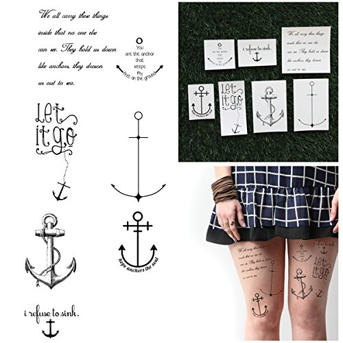 Pirate Costumes For Kids Do It Yourself - Tattify Assorted Nautical Temporary Tattoo Pack