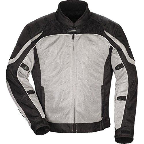 Tour Master Intake Air Series 4 Women's Textile Sports Bike Racing Motorcycle Jacket - Silver/Black/Large