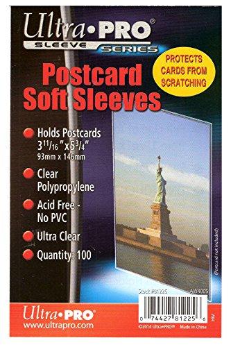 Ultra Pro Postcard Sleeves, 100 Sleeves (Postcard Protectors)