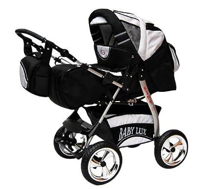 Lux4Kids King - Cochecito de bebé con kit de seguridad (silla para coche y