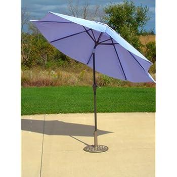 Amazon Com 9 Outdoor Patio Market Umbrella With Hand