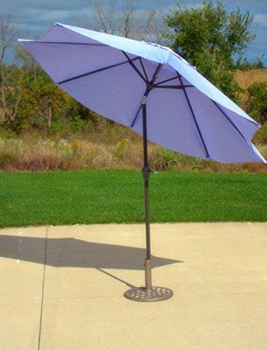 9' Outdoor Patio Market Umbrella with Hand Crank and Tilt - Purple