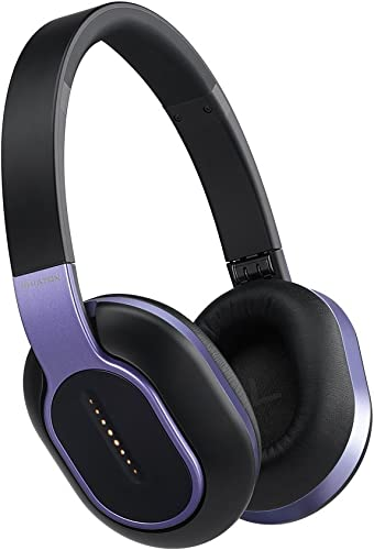 BT 460 Purple Wireless Touch Interface Headphones With Microphone